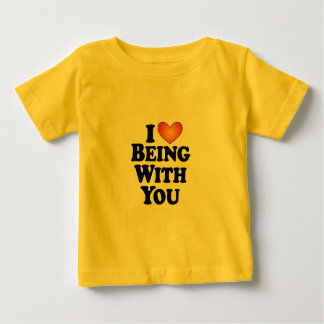 I (heart) Being With You - Lite Multi-Products Baby T-Shirt