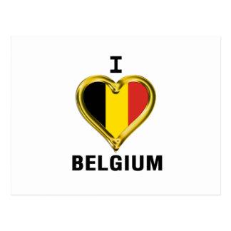 I HEART BELGIUM POSTCARD