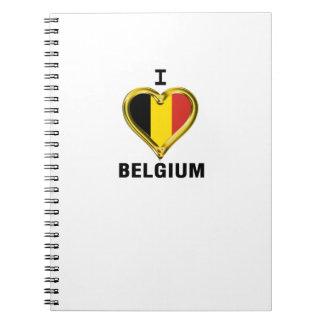 I HEART BELGIUM SPIRAL NOTEBOOK
