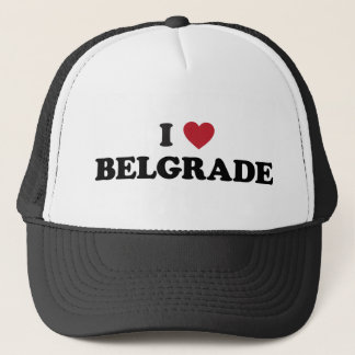 I Heart Belgrade Serbia Trucker Hat