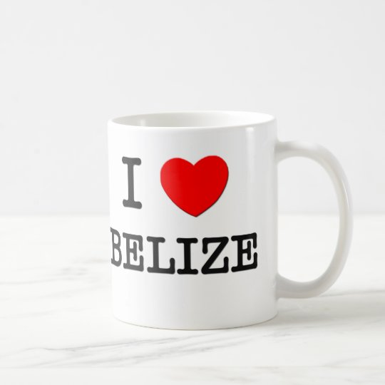 I HEART BELIZE COFFEE MUG