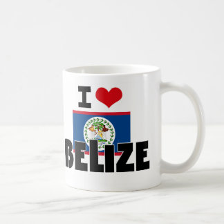 I HEART BELIZE CLASSIC WHITE COFFEE MUG