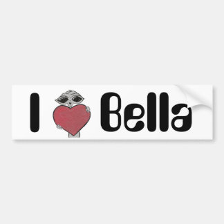 I Heart Bella Alien Car Bumper Sticker