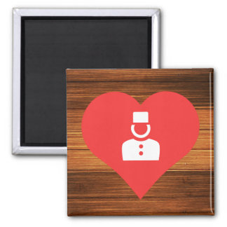 I Heart Bellhops Icon 2 Inch Square Magnet