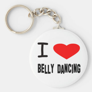 I Heart Belly Dancing Basic Round Button Keychain