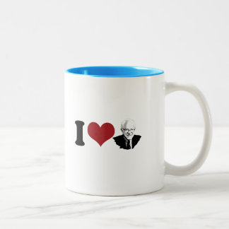 I Heart Bernie Sanders Portrait Two-Tone Coffee Mug