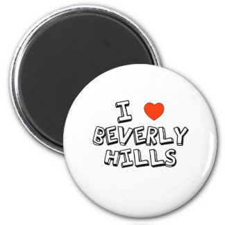 I Heart Beverly Hills 2 Inch Round Magnet