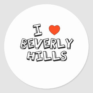 I Heart Beverly Hills Classic Round Sticker