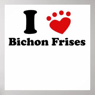 I Heart Bichon Frises Posters