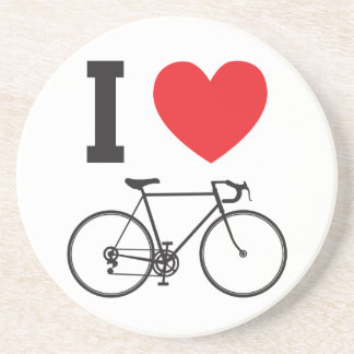 I Heart Bicycle Beverage Coasters