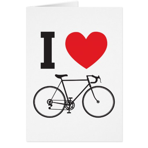 I Heart Bicycle Card