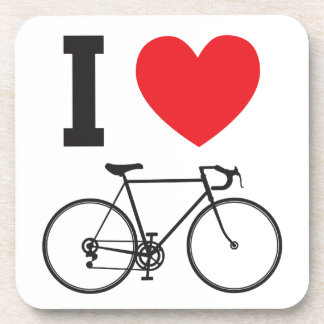 I Heart Bicycle Drink Coaster