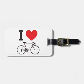 I Heart Bicycle Luggage Tag