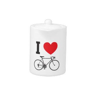 I Heart Bicycle Teapot