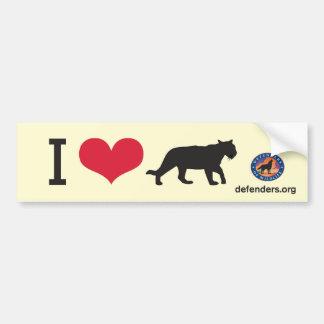 I Heart Big Cats Car Bumper Sticker