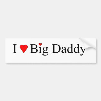 I Heart Big Daddy Bumper Stickers