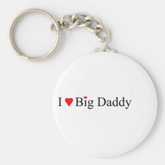 I Heart Big Daddy Keychain