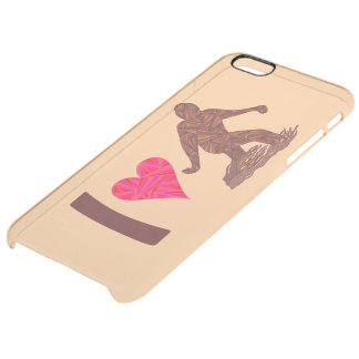 I Heart Bigfoot Walking Squatch iphone6plus fun Clear iPhone 6 Plus Case