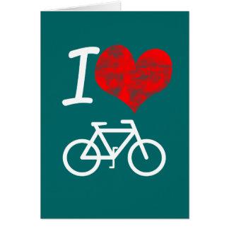 I Heart Bike Card