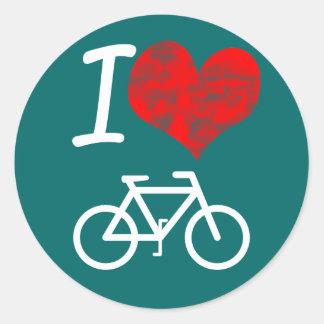 I Heart Bike Classic Round Sticker