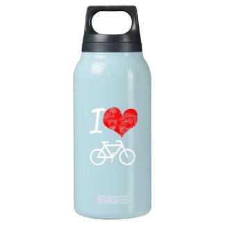 I Heart Bike Insulated Water Bottle