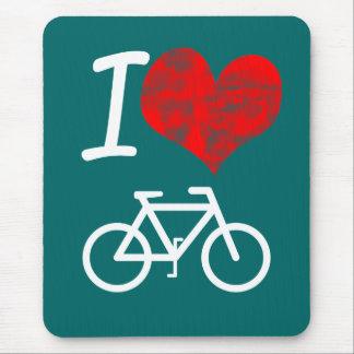 I Heart Bike Mouse Pad