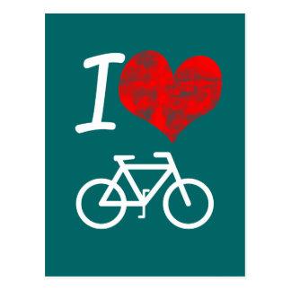 I Heart Bike Postcard