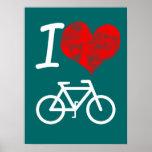 I Heart Bike Poster