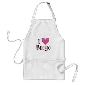 I Heart Bingo Adult Apron