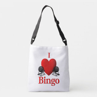 I Heart Bingo Crossbody Bag