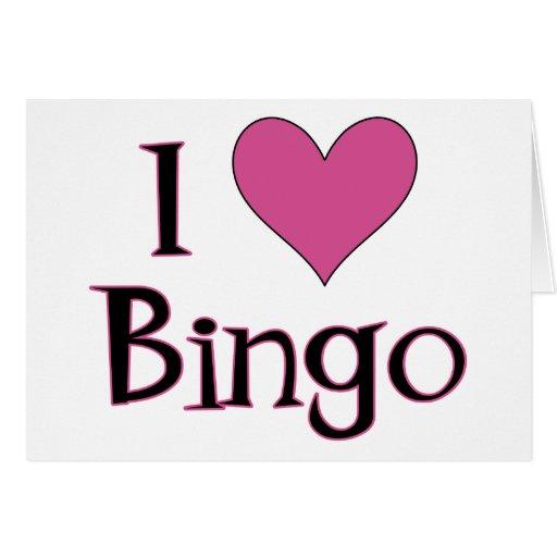I Heart Bingo Greeting Card