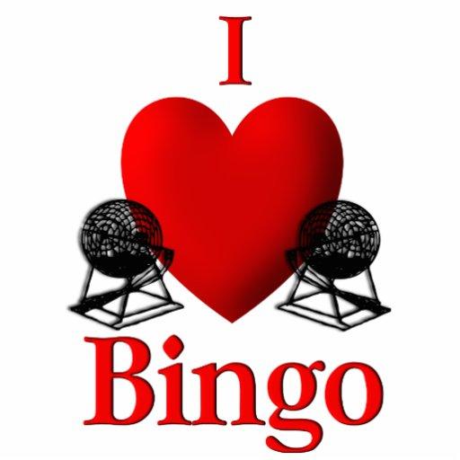 I Heart Bingo Photo Sculptures