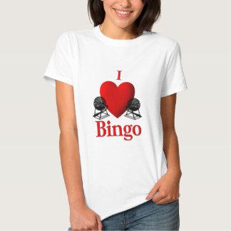 I Heart Bingo Tee Shirt
