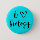 I Heart Biology Button