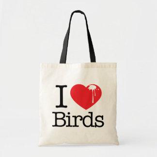 I Heart Birds Budget Tote Bag