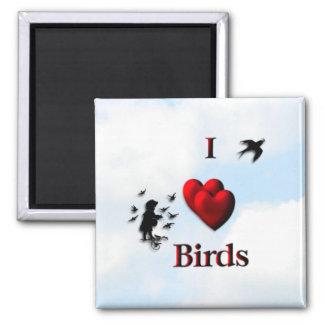I Heart Birds Magnet