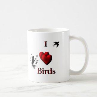 I Heart Birds Mugs