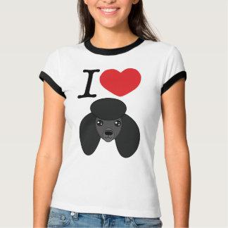I Heart Black Poodles T-Shirt