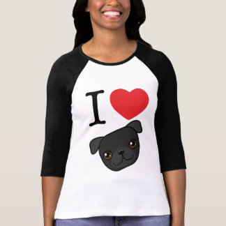 I Heart Black Pugs T-shirt