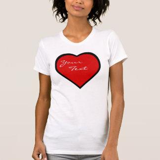 I Heart Black Rimmed Heart Your Text Shirt
