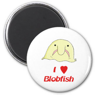 I heart blob 2 inch round magnet