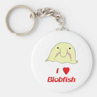 I heart blob basic round button keychain
