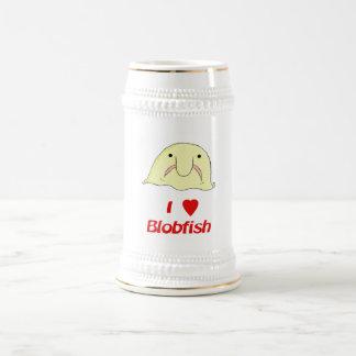 I heart blob beer stein