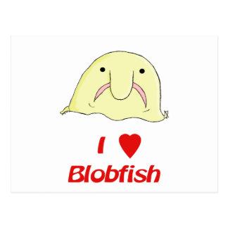 I heart blob postcard