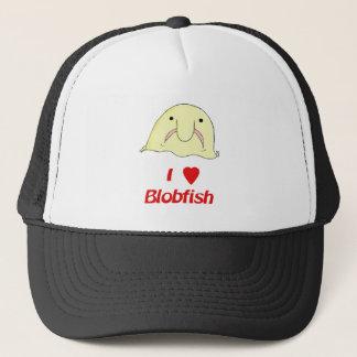 I heart blob trucker hat