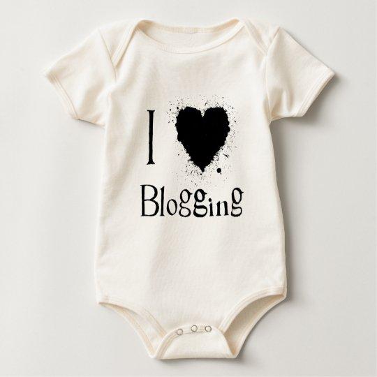 I Heart Blogging Baby Bodysuit