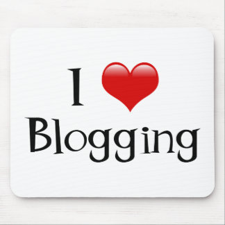 I Heart Blogging Mouse Pad