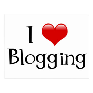 I Heart Blogging Postcard