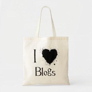 I Heart Blogs Tote Canvas Bag