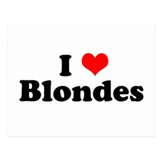 I Heart Blondes Postcard
